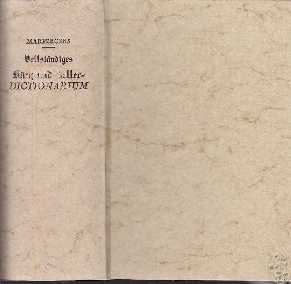 MARPERGER, Vollständiges Küch- und... 1978