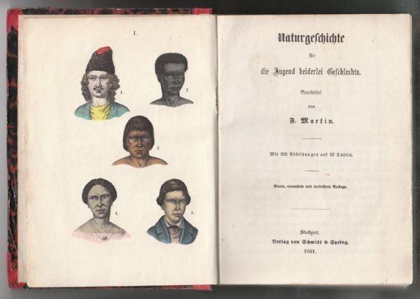 MARTIN, Naturgeschichte für die Jugend... 1861
