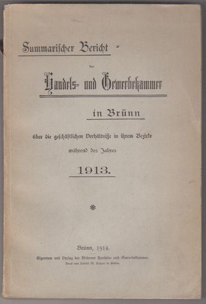 Summarischer Bericht der Handels- und... 1914
