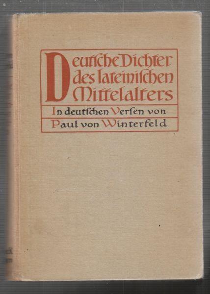 REICH, Deutsche Dichter des lateinischen... 1922