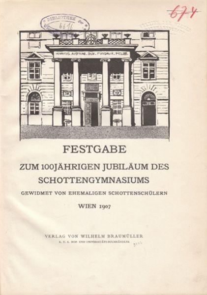 FESTGABE zum 100jährigen Jubiläum des... 1907