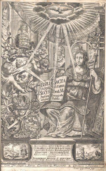 Biblia Sacra. Vulgatae Editionis Sixti V. Pont.... 1714