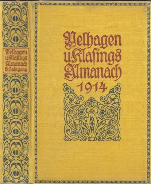 ALMANACH. Hrsg. v. der Redaktion von Velhagen... 1913
