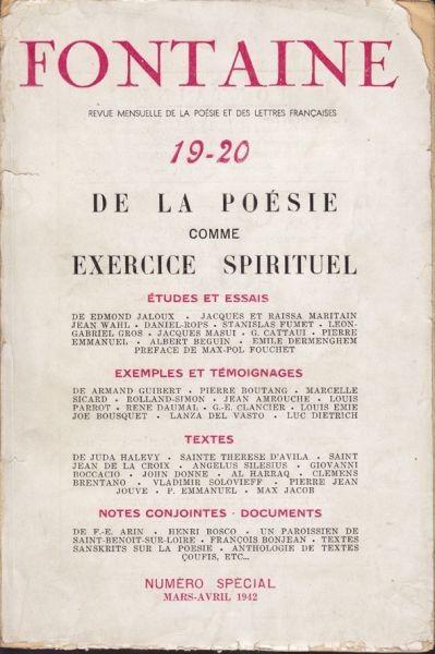 Fontaine. Revue mensuelle de la Poésie et des... 1942