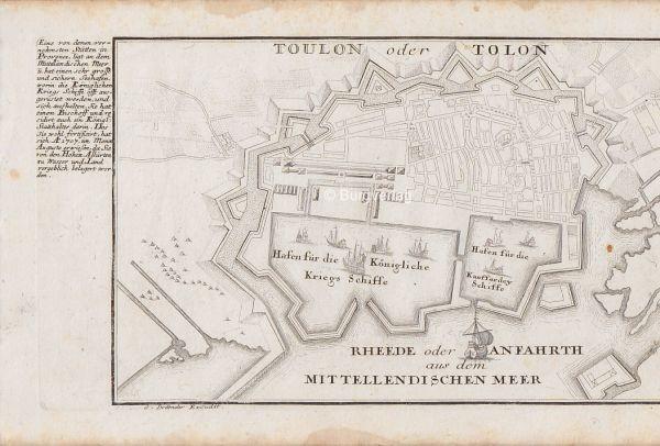 BODENEHR, Toulon oder Tolon. 1725