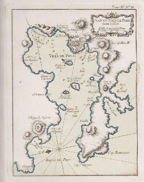 Plan du Port de Pole dans L'Istrie. 1764