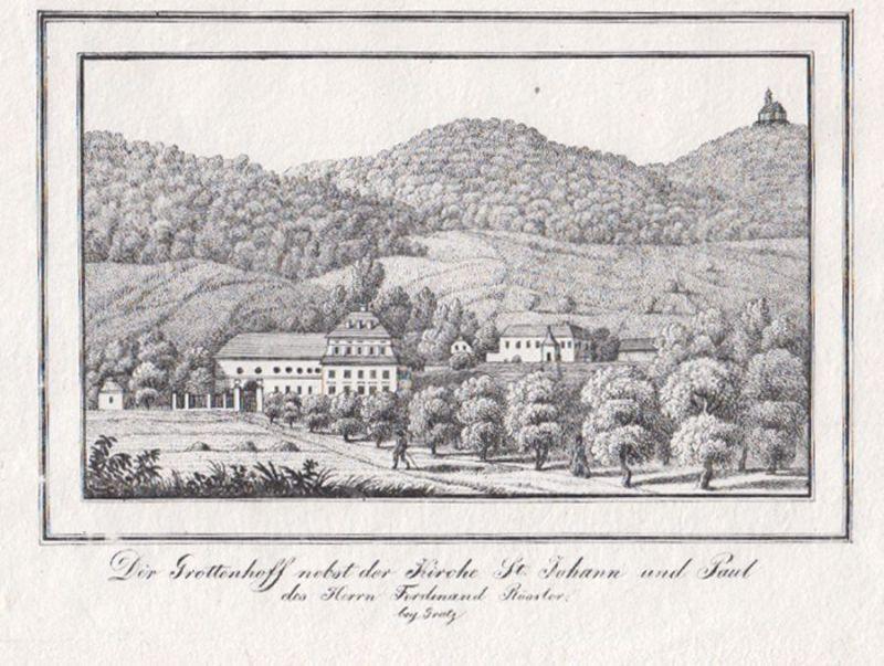 Der Grottenhoff nebst der Kirche St. Johann und Paul des Herrn Ferdinand Rössler