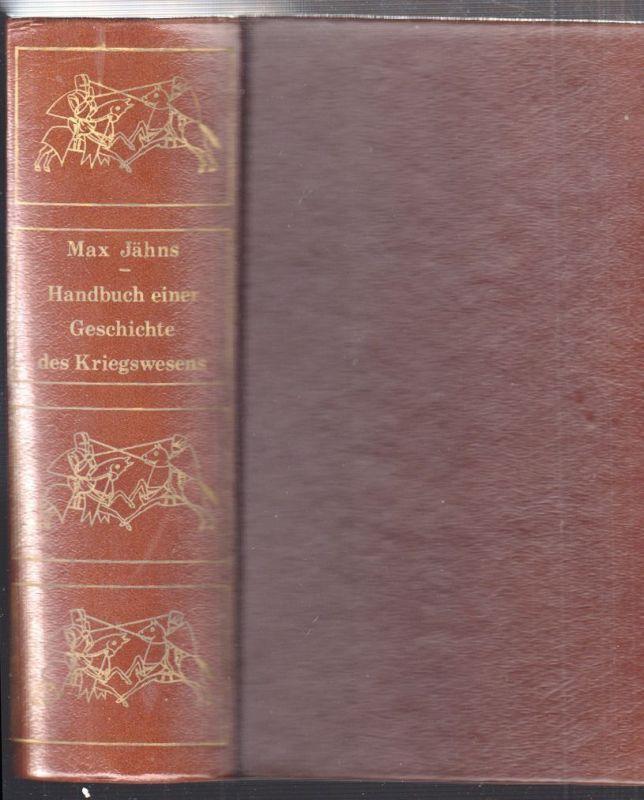 Handbuch einer Geschichte der Kriegswesens von der Urzeit bis zur Renaissance. M
