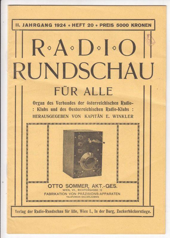 Radio Rundschau für alle. Organ österreichischen Radio-Klubs und des Oesterreich