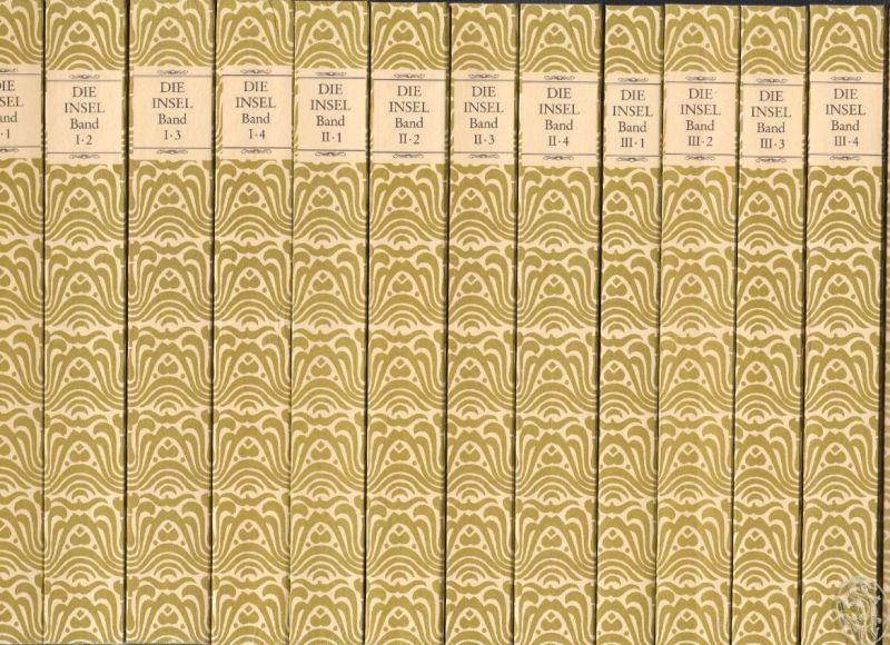 Die Insel. Faksimileausgabe in zwölf Bänden. UND: SCHÖFFLING, Klaus. Die ersten