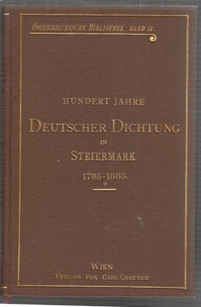 SCHLOSSAR, Hundert Jahre deutscher Dichtung in... 1898