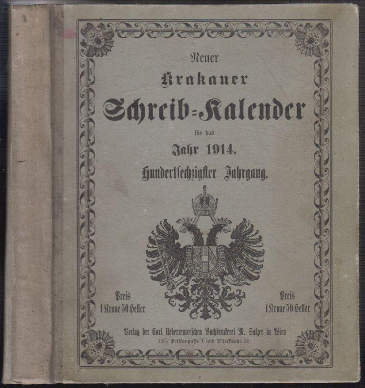Neuer Krakauer für Wien berechneter Schreib-Kalender  für das Jahr nach der Gebu