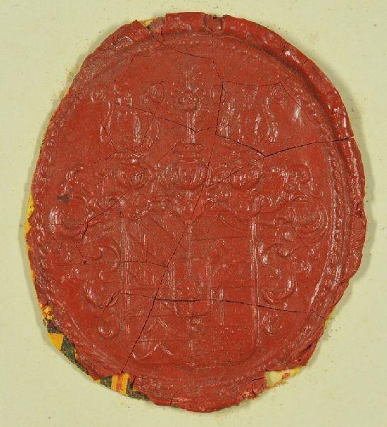 Wappensiegel des Hauses Trautmannsdorf. Wappen...