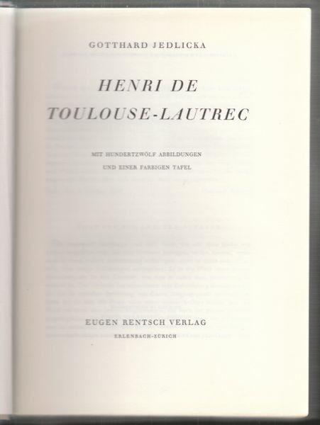 JEDLICKA, Henri de Toulouse-Lautrec. 1943