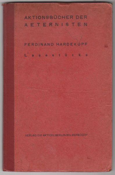 HARDEKOPF, Lesestücke. 1916