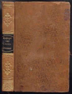 SCHLEGEL, Lecons sur l'histoire et la théorie... 1830
