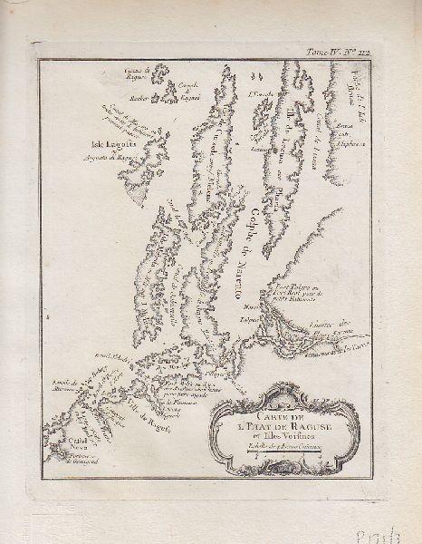 Carte de l'Etat de Raguse et Isles Voisines. 1764