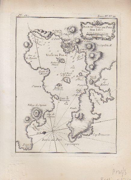 Plan du Port de Pole dans L'Istrie. 1764 2470-14