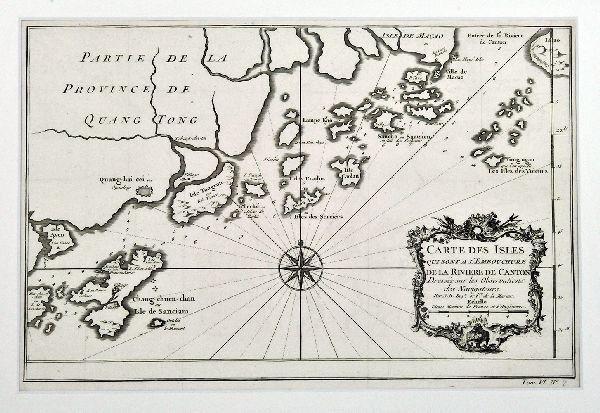 Carte des Isle qui sont a l'embouchure de la... 1764