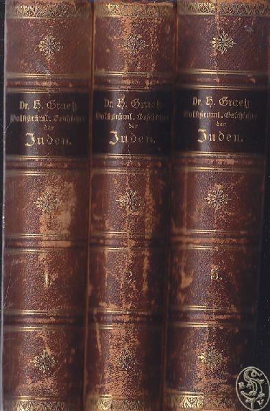GRAETZ, Volkstümliche Geschichte der Juden. 1888