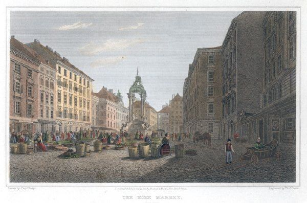 BATTY, The Hohe Market. Engraved by Thom. Owen. 1823