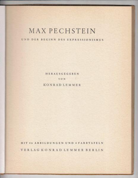 LEMMER, Max Pechstein und der Beginn des... 1949