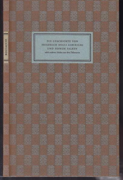 BOCCACCIO, Die Geschichte von Friedrich degli... 1959