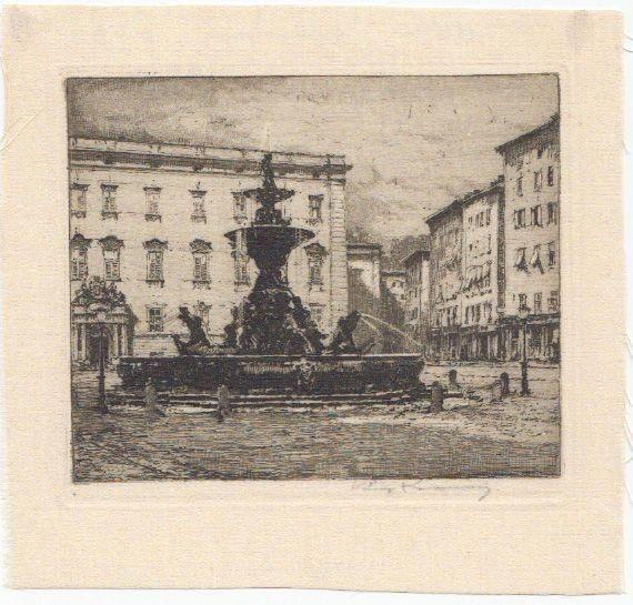 [Residenzbrunnen]. KASIMIR, Luigi. Graphiker (1881-1962).