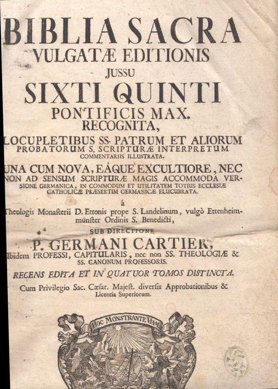 BIBLIA SACRA vulgatae editionis jussu Sixti Quinti ... Locupletibus SS. Patrum e