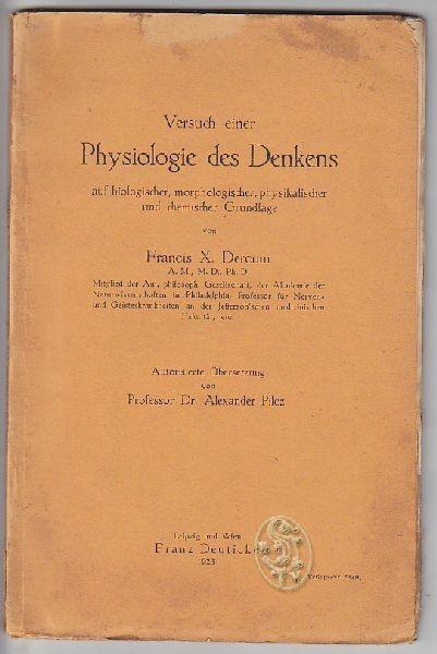 DERCUM, Versuch einer Physiologie des Denkens... 1923