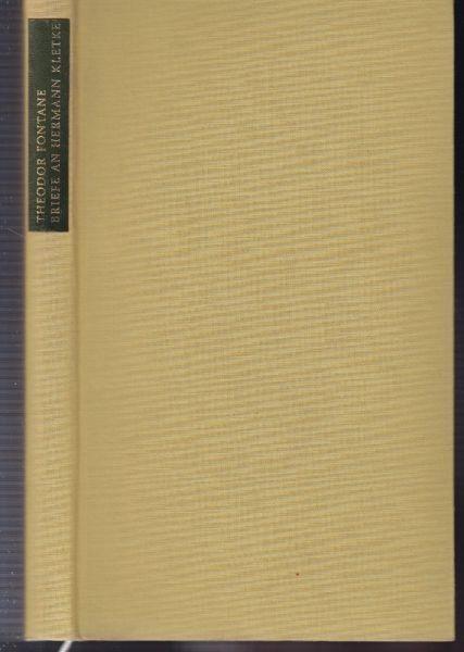 NÜRNBERGER, Theodor Fontane. Briefe an Hermann... 1969