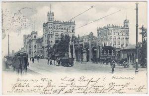 Gruss aus Wien. Nordbahnhof. 1890