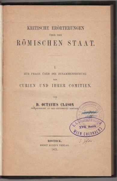 CLASON, Zur Frage über die Zusammensetzung der... 1871