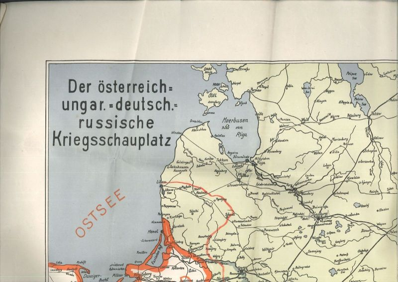 Der österreich-ungar.-deutsch.-russische Kriegsschauplatz.
