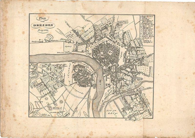 Plan von Dresden.