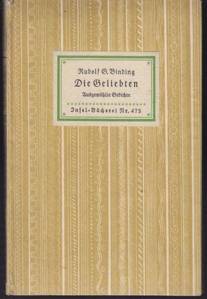 BINDING, Die Geliebten. Gedichte. 0796-02