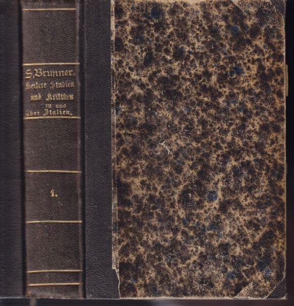 BRUNNER, Heitere Studien und Kritiken in und... 1866