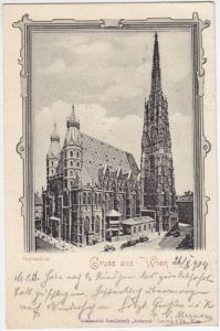 Gruss aus Wien. Stefansdom. 1900