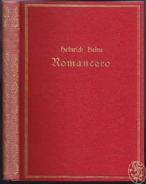 HEINE, Romancero. Illustrirte Pracht-Ausgabe.... 1880