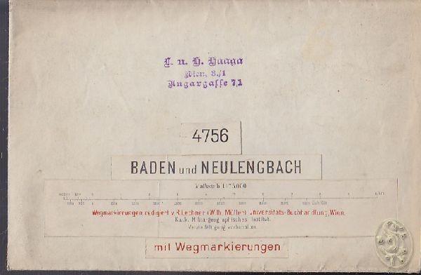 Baden und Neulengbach. 4756. Mit... 1918