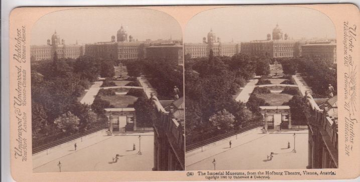 The Imperial Museums, from the Hofburg Theatre Vienna, Austria.