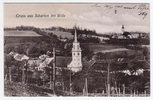 Gruss aus Scharten bei Wels. 1900
