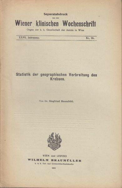 ROSENFELD, Statistik der geographischen... 1913