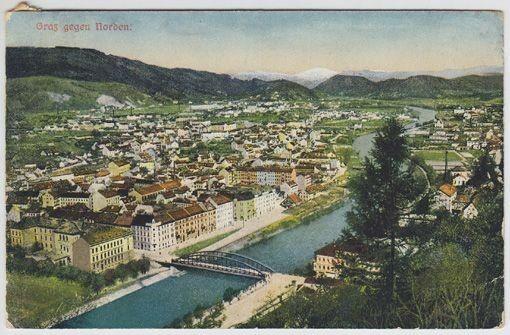 Graz gegen Norden. 1917