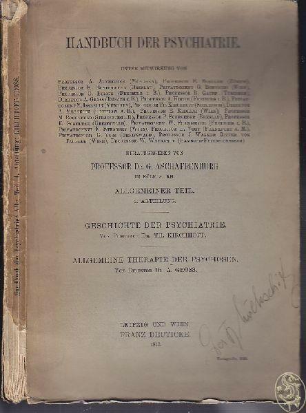 KIRCHHOFF, Geschichte der Psychiatrie.... 1912
