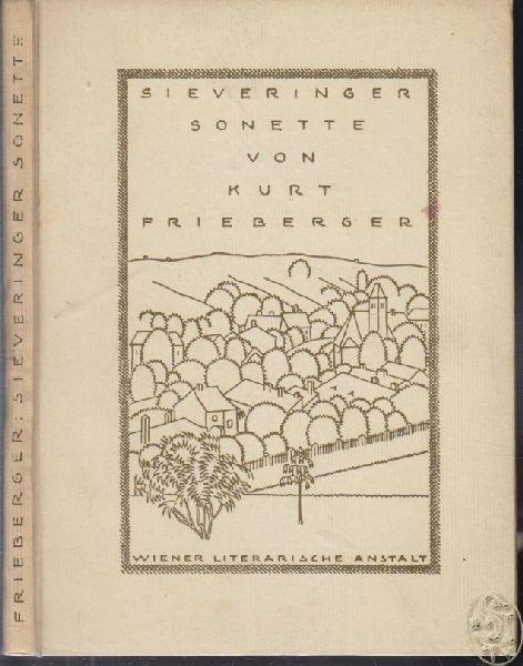 FRIEBERGER, Sieveringer Sonette. 1919