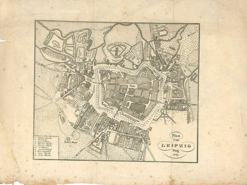 Plan von Leipzig.