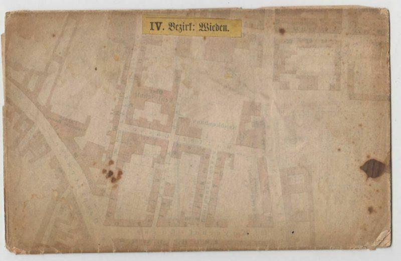 Häuser, Gassen- und Strassen-Plan vom IV. Bezirke Wieden umfassend die Vorstädte