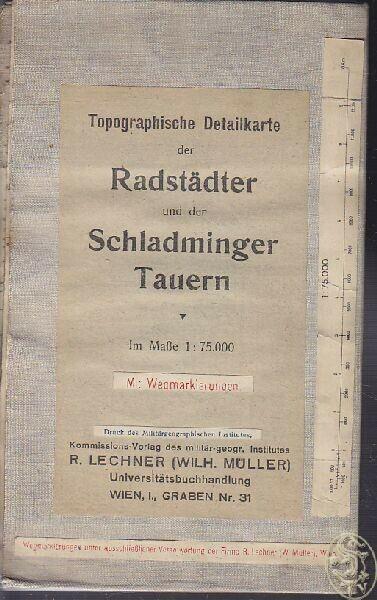 Topographische Detailkarte der Radstädter und... 1920