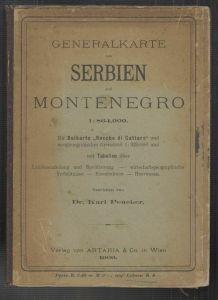 Generalkarte von Serbien und Montenegro. Mit Beikarte